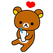 「CALPIS WATER」 Rilakkuma Stickers Sticker for LINE & WhatsApp | ZIP: GIF & PNG