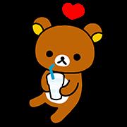 「CALPIS WATER」 Rilakkuma Stickers Sticker for LINE & WhatsApp | ZIP: GIF & PNG