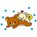 「CALPIS」 Brand × Rilakkuma Stickers Sticker for LINE & WhatsApp | ZIP: GIF & PNG
