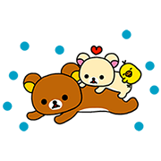 「CALPIS」 Brand × Rilakkuma Stickers Sticker for LINE & WhatsApp | ZIP: GIF & PNG