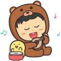All Exist Squad: Happiness Sticker for LINE & WhatsApp | ZIP: GIF & PNG