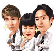 Blouson Chiemi with B Gets Movin' Sticker for LINE & WhatsApp | ZIP: GIF & PNG