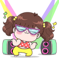 Boobib Pop Up Sticker for LINE & WhatsApp | ZIP: GIF & PNG