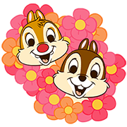 Chip 'n' Dale Pop-Up Stickers Sticker for LINE & WhatsApp | ZIP: GIF & PNG