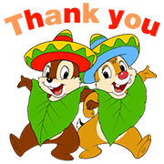 Chip 'n' Dale Summer Delight Stickers Sticker for LINE & WhatsApp | ZIP: GIF & PNG