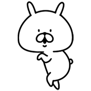 Chococo's Yuru Usagi (Animated) Sticker for LINE & WhatsApp | ZIP: GIF & PNG