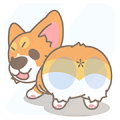 Corgi PonPon comes to your heart! Sticker for LINE & WhatsApp | ZIP: GIF & PNG