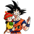DRAGONBALL Z SAIYAN&FRIEZA SAGA Sticker for LINE & WhatsApp | ZIP: GIF & PNG