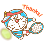Doraemon's Animated Sports Sticker for LINE & WhatsApp | ZIP: GIF & PNG