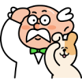 Dr.Point and his assistant Sticker for LINE & WhatsApp | ZIP: GIF & PNG