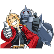 FULLMETAL ALCHEMIST Sticker for LINE & WhatsApp | ZIP: GIF & PNG
