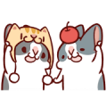 Fattubo: Fattubo with Happy Partners Sticker for LINE & WhatsApp | ZIP: GIF & PNG