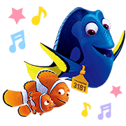 Finding Dory Stickers Sticker for LINE & WhatsApp | ZIP: GIF & PNG