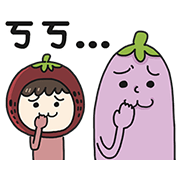 Fruit Couple Love Sticker for LINE & WhatsApp | ZIP: GIF & PNG