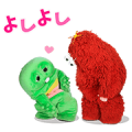 Gachapin & Mukku Pop-Ups Sticker for LINE & WhatsApp | ZIP: GIF & PNG