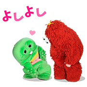 Gachapin & Mukku Pop-Ups Sticker for LINE & WhatsApp | ZIP: GIF & PNG