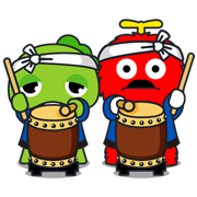Gachapin & Mukku: Summer Special Sticker for LINE & WhatsApp | ZIP: GIF & PNG