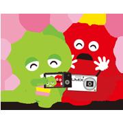 Gachapin & Mukku X Lumix Sticker for LINE & WhatsApp | ZIP: GIF & PNG