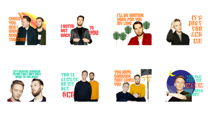 HONNE: Love Me / Love Me Not Line Sticker GIF & PNG Pack: Animated & Transparent No Background | WhatsApp Sticker