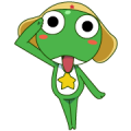 KERORO GUNSO Sticker for LINE & WhatsApp | ZIP: GIF & PNG