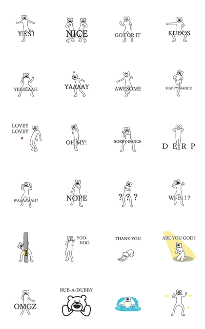 KETAKUMA Daily Intensity Line Sticker GIF & PNG Pack: Animated & Transparent No Background | WhatsApp Sticker
