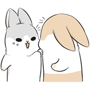 Kawaii Machiko Rabbit Sticker for LINE & WhatsApp | ZIP: GIF & PNG
