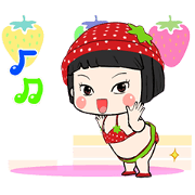Khing Khing Strawberry Sticker for LINE & WhatsApp | ZIP: GIF & PNG