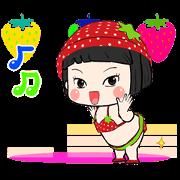Khing Khing Strawberry Sticker for LINE & WhatsApp | ZIP: GIF & PNG
