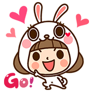 Kinoko & Labito's Jiggle Wiggle Party Sticker for LINE & WhatsApp | ZIP: GIF & PNG