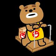 Kumanchu: Part-Time Bear Sticker for LINE & WhatsApp | ZIP: GIF & PNG