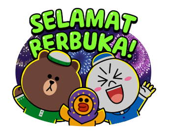 LINE Character Special: Ramadan Talks Sticker for LINE & WhatsApp | ZIP: GIF & PNG