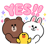 LINE Characters: Cute and Soft Sounds Sticker for LINE & WhatsApp | ZIP: GIF & PNG