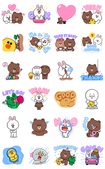 LINE Characters: Cute and Soft Sounds Line Sticker GIF & PNG Pack: Animated & Transparent No Background   WhatsApp Sticker