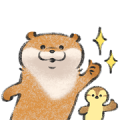 LINE NEWS × Cute lie otter Sticker for LINE & WhatsApp | ZIP: GIF & PNG