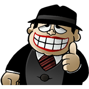 Laughing Salesman Sticker for LINE & WhatsApp | ZIP: GIF & PNG