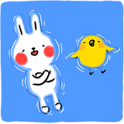 Lazy Rabbit & Mr.Chu: Summer Edition Sticker for LINE & WhatsApp | ZIP: GIF & PNG