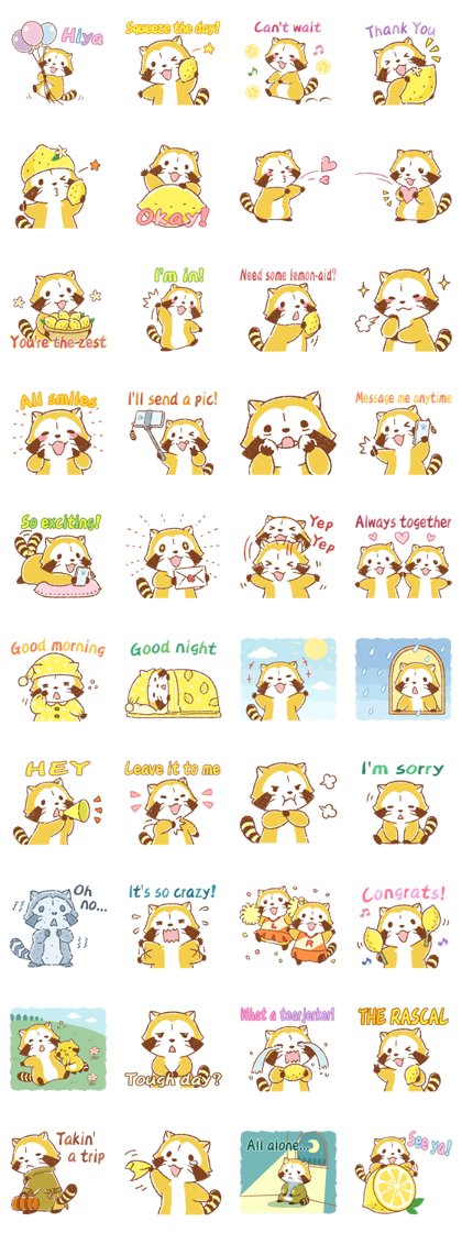 Lemon Rascal Daily Stickers Line Sticker GIF & PNG Pack: Animated & Transparent No Background | WhatsApp Sticker