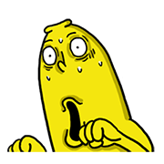Let's shake with Mr. BANANA 3.0 Sticker for LINE & WhatsApp   ZIP: GIF & PNG