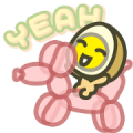 MILUEGG: Mini Mini Sticker for LINE & WhatsApp | ZIP: GIF & PNG