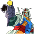 MOBILE SUIT GUNDAM Big Stickers Sticker for LINE & WhatsApp | ZIP: GIF & PNG