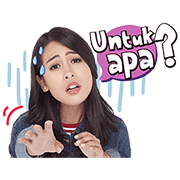 Maudy Ayunda: Your Good Friend Sticker for LINE & WhatsApp | ZIP: GIF & PNG