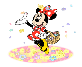 Minnie Mouse Animated Stickers Sticker for LINE & WhatsApp | ZIP: GIF & PNG