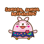 Miya Spread Kindness Sticker for LINE & WhatsApp | ZIP: GIF & PNG
