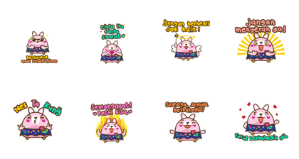 Miya Spread Kindness Line Sticker GIF & PNG Pack: Animated & Transparent No Background | WhatsApp Sticker