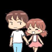 Momo & Taro Sticker for LINE & WhatsApp | ZIP: GIF & PNG