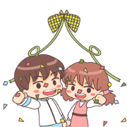 Momo & Taro: Ramadan Special Sticker for LINE & WhatsApp | ZIP: GIF & PNG