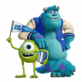 Monsters University Sticker for LINE & WhatsApp | ZIP: GIF & PNG