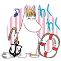 Moomin: Animated Summer Stickers Sticker for LINE & WhatsApp | ZIP: GIF & PNG