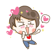 My Husband Only: Love Is So Sweet Sticker for LINE & WhatsApp | ZIP: GIF & PNG