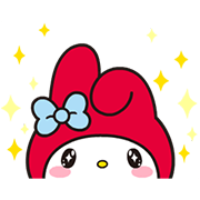 My Melody: Eyes On Me! Sticker for LINE & WhatsApp | ZIP: GIF & PNG
